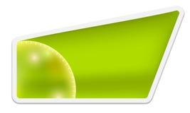 Green text box Royalty Free Stock Image