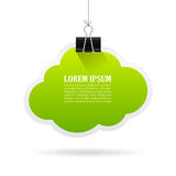 Green text cloud bubble Royalty Free Stock Photography