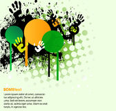 Green Text Frame With Hands Prints Stock Photography