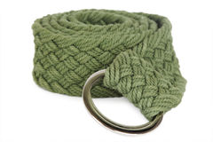 Green textile female belt isolated Stock Images