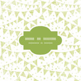 Green Textile Party Bunting Frame Seamless Pattern Royalty Free Stock Photography