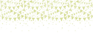 Green Textile Party Bunting Horizontal Seamless Stock Photo