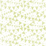 Green Textile Party Bunting Seamless Pattern Stock Image