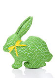 Green textile rabbit Royalty Free Stock Image