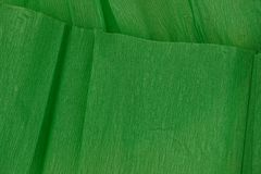 Green texture of crumpled paper Stock Image