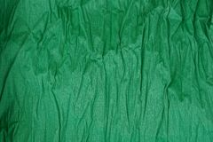 Green texture of crumpled paper Royalty Free Stock Photo