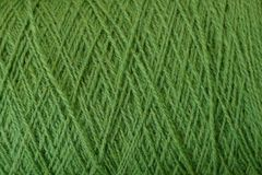 Green texture of thick woolen threads Royalty Free Stock Photography
