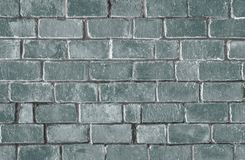 Green textured brick wall background stock photos