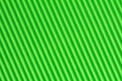 Green textured corrugate cardboard Stock Images