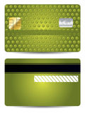 Green textured credit card Royalty Free Stock Images