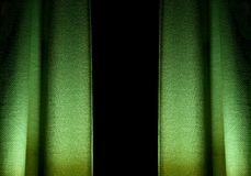 Green textured curtains Royalty Free Stock Photos
