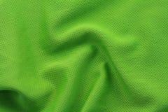 Green textured football jersey Stock Photography