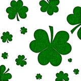 Green Textured Shamrock Background Stock Images