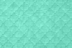 Green textures background, close-up of sea green quilt, aquamari Royalty Free Stock Photos