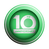Green10th anniversary icon design. Creative design of green 10th anniversary icon Stock Photo