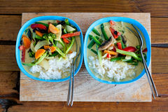 Green Thai Curry for Two. Royalty Free Stock Photos