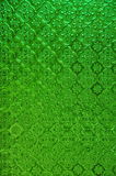 Green Thai stain glass window Royalty Free Stock Image