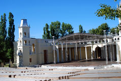 Green Theater in VDNH park in Moscow Royalty Free Stock Photo