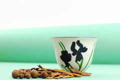 Green-Themed Arabic Coffee Cup Royalty Free Stock Photos