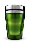 Green Thermic Mug Royalty Free Stock Photo