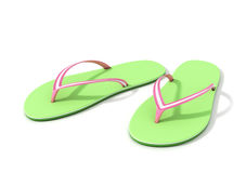 Green Thongs. Summertime Fun. Royalty Free Stock Photo