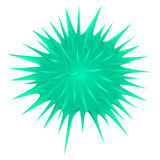 Green thorny ball on white Royalty Free Stock Photo