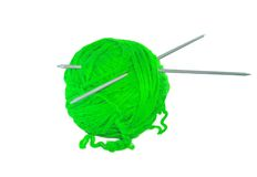 Green thread ball isolated on white Stock Images