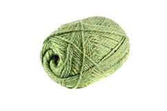 Green thread ball isolated on white background Royalty Free Stock Photos