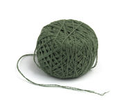 Green thread clew Royalty Free Stock Images