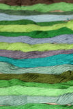 Green thread embroidery floss Royalty Free Stock Photography