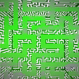 Green three dimensional maze box top view Stock Photography