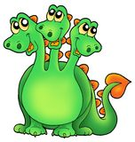 Green three headed dragon Royalty Free Stock Photos