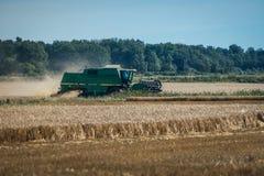 Green threshing machine Royalty Free Stock Image