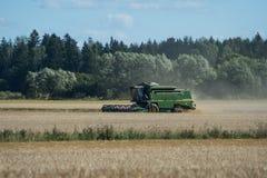Green threshing machine Stock Image