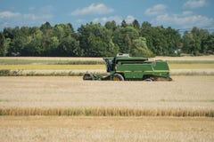 Green threshing machine Stock Photography