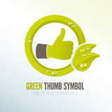 Green thumb icon for eco-friendly products Stock Photo