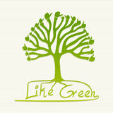Green thumb up tree illustration Royalty Free Stock Image