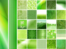 Green thumbnails & banners Royalty Free Stock Photo