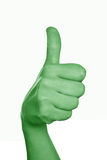 Green Thumbs up Stock Image
