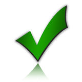 Green tick Royalty Free Stock Photos