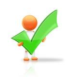 Green Tick Stock Photo
