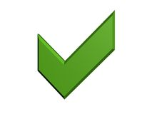 Green tick Royalty Free Stock Images