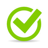 Green tick checkbox Royalty Free Stock Photography