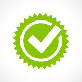 Green tick mark vector icon Stock Photo