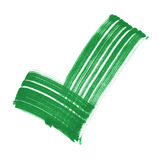 Green tick sign strong brush Royalty Free Stock Photography