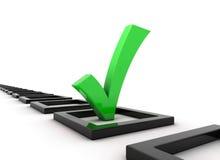 Green tick symbol Stock Photo