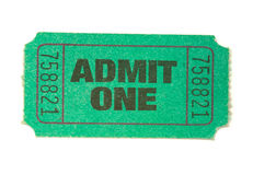 Green Ticket Stock Photos