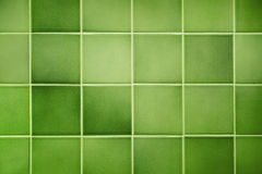 Green Tile Background. View of a green tiled wall suitable, for a backgrounds Royalty Free Stock Photography