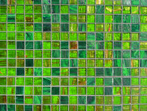 Green tile background stock image