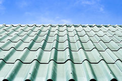 Green tile roof Royalty Free Stock Photos